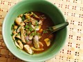 Spicy Northern Thai-style chicken soup (Yum jin gai)