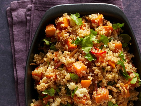 Spicy quinoa with sweet potatoes (page 171)