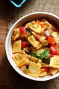 Spicy ratatouille with ravioli