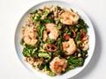 Spicy shrimp and broccolini stir-fry