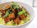 Spicy stir-fried tofu with coconut rice from 'The New Vegetarian Cooking For Everyone' (Cook the Book)