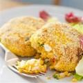 Spicy, sweet potato fishcakes
