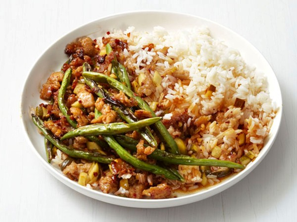 Spicy turkey and green bean stir-fry (page 132)