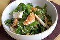 Spinach salad with roasted chicken and oranges