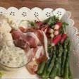 Spring platter (with anchovy and caper mayonnaise)