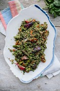 Spring veg tabbouleh with green harissa