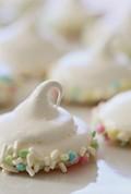 Sprinkle dipped meringues