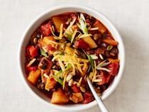 Squash-black bean chili