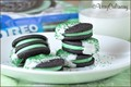 (St. Patricks Day) chocolate dipped mint Oreos