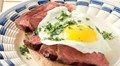 Steak and eggs with gremolata