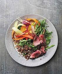 Steak and quinoa salad