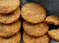 Stilton and walnut biscuits