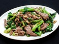 Stir-fried beef with Chinese broccoli