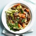 Stout, beef, and cabbage stir-fry
