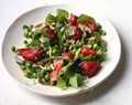 Strawberry, almond and pea salad