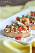 Strawberry and nectarine bruschetta
