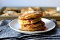 Strawberry cornmeal griddle cakes