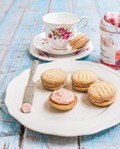 Strawberry jam & brown butter melting moments (Shortbread biscuits)