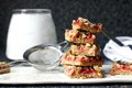 Strawberry rhubarb crisp bars