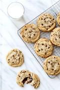Stuffed peanut butter chocolate chip cookies