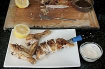 Sumac-rubbed butterflied chicken