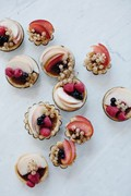 Summer fruit and hazelnut frangipane tarts