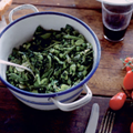 Summer vegetable stew with watercress and mint