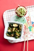 Sweet and sour courgettes with sesame noodles