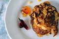Sweet corn fritters with shrimp and chipotle
