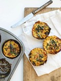 Swiss chard and chanterelle mushroom frittata cups