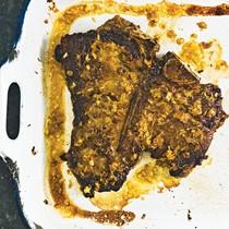 T-bone steak with lemongrass-habanero marinade