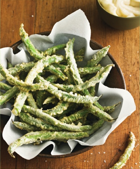 Tempura Green Beans With Tapendade Dip From 'Salty Snacks' Recipes ...