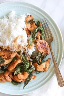 Thai basil chicken (Pad grapow)
