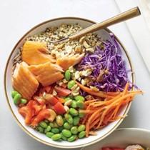 Thai crunch bowl with salmon