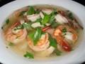 Thai hot and sour shrimp soup (Tom yum goong soup)