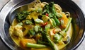 Thai-style chicken, shiitake and tenderstem broccoli with noodles and coconut broth