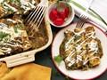 The best creamy chicken enchiladas