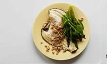 The fish dish: Asparagus, buckwheat, sorrel and plaice