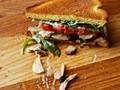 The turkey club shawarma sandwich with pork belly and enhanced mayo