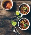 Three-bean chipotle chili