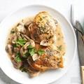 Three-herb chicken and mushrooms