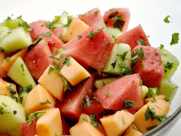 Three melon salad