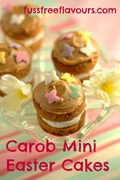 Toffee caramel carob mini Easter cakes