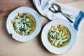 Tomatillo tortilla soup