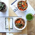 Tomato and farro minestrone