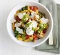 Tomato, kale, ricotta & pesto pasta