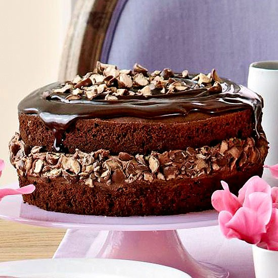 Triple chocolate cake with malted crunch from Better Homes and Gardens ...