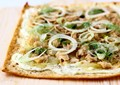 Tuna and goat cheese flatbread