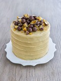 Vanilla malt cake with honeycomb and Maltesers