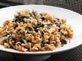 Vegetarian citrus pasta with Swiss chard
